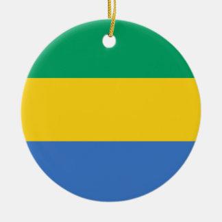 Gabun-Flagge Keramik Ornament