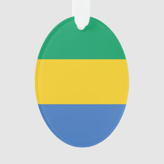 Gabun-Flagge Ornament