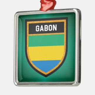 Gabun-Flagge Silbernes Ornament