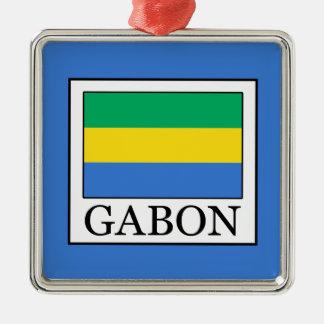 Gabun Silbernes Ornament