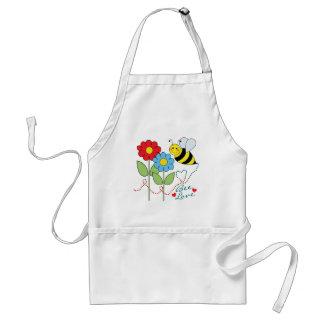 Gaffez l'abeille avec amour d'abeille de fleurs tablier