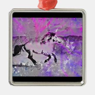 Galaktisches Einhorn Silbernes Ornament