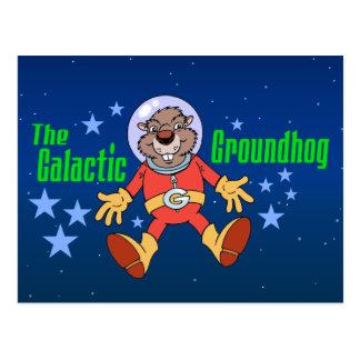 Galaktisches Groundhog Postkarte