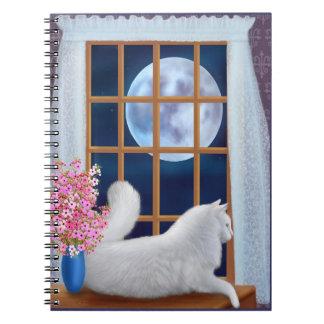 Galan das weiße Katzen-Notizbuch Notizblock