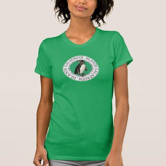 Galapagos-Inselndrawstring-Pinguin-T-Stück T-Shirt