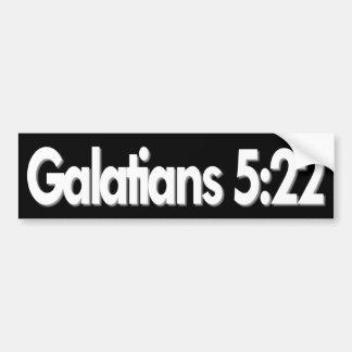 Galatians 5:22 christlich autoaufkleber
