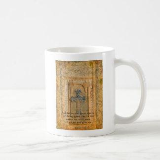 Galatians 6:9 inspirierend Bibel-Vers GÜTE Kaffeetasse