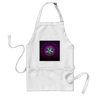 Galaxie der lila extravaganten Kaleidoskop-Kunst Schürze