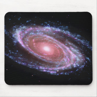 Galaxie en spirale rose Mousepad Tapis De Souris