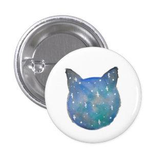 Galaxie-Katze Pinback Knopf Runder Button 2,5 Cm