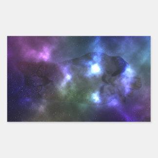 Galaxie-Katzen-Rechteck-Aufkleber, glatt, 4,5 x Rechteckiger Aufkleber