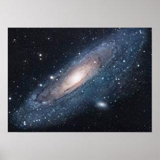 Galaxie M31 im Andromeda Poster