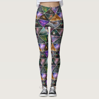 Galaxie-Nebelfleck-kosmischer Raum-bunter Leggings