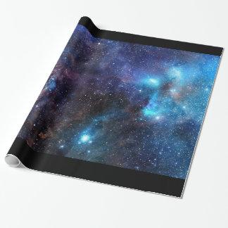 Galaxie-Packpapier 2 - mit schwarzer Grenze Geschenkpapier