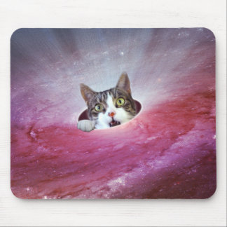 Galaxie-Raum-Katzen LOL lustiges Mousepad