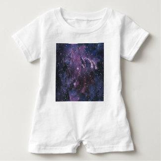 galaxy pixels baby strampler