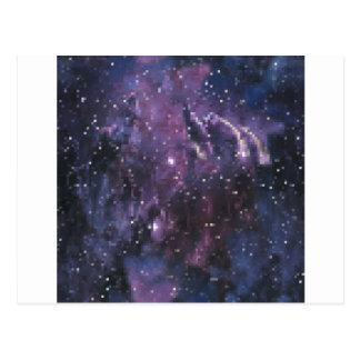 galaxy pixels postkarte