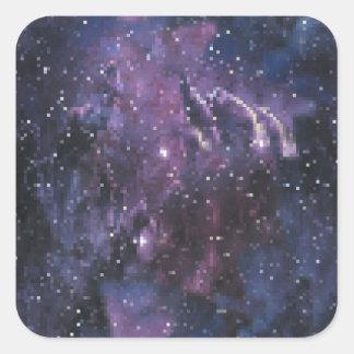 galaxy pixels quadratischer aufkleber