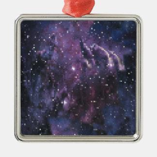 galaxy pixels silbernes ornament