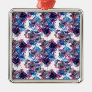 galaxy watercolor silbernes ornament