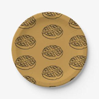 Galentines Tageswaffel-Papier-Teller Pappteller 17,8 Cm