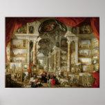 Galerie avec des vues de Rome moderne, 1759 Affiche