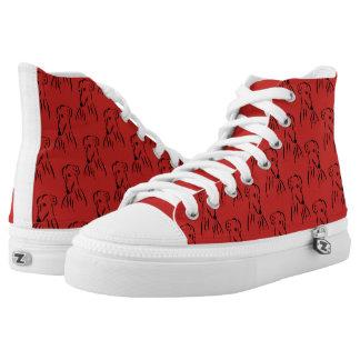 Galgo Liebe Hoch-geschnittene Sneaker
