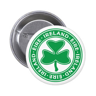 Gälisches Kleeblatt-Symbol Irlands Éire Runder Button 5,1 Cm