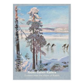 Gallen-Kallela Kalela Scaters Luistelijat CC0812 Postkarte