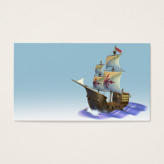 Galleon Schiff Visitenkarte