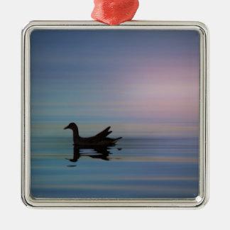 Gallinule glatt silbernes ornament