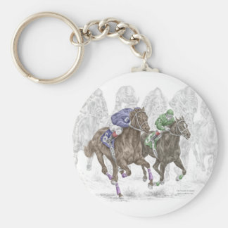 Galoppierende Rennpferde Schlüsselanhänger