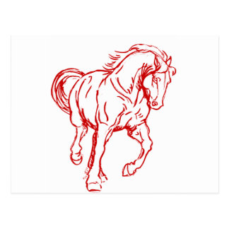 Galoppierendes Entwurfs-Pferd Postkarte