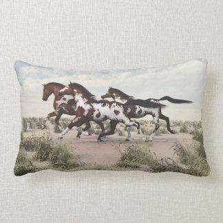 Galoppierendes Farben-Pferdelumbar-Kissen Lendenkissen