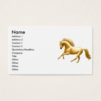 Galoppierendes goldenes Pferd Visitenkarte