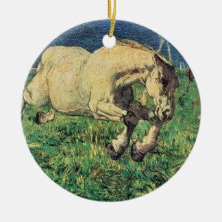 Galoppierendes Pferd durch Giovanni Segantini, Keramik Ornament