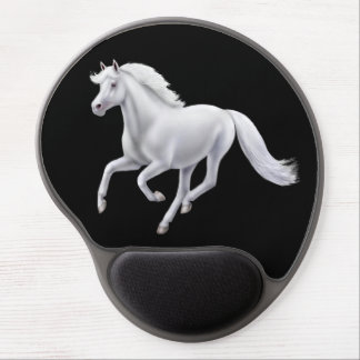 Galoppierendes weißes Pferdegel Mousepad