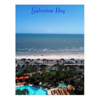 Galveston Bucht-Postkarte Postkarte