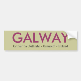 Galway Irland Autoaufkleber
