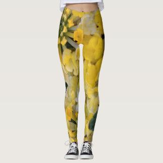 Gamaschen-glückliche gelbe Blüte Leggings