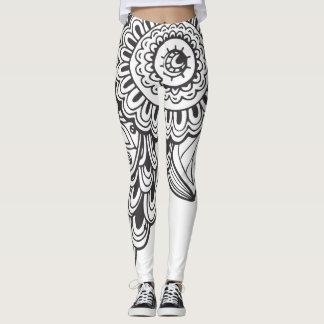 Gamaschen-Mandala Leggings