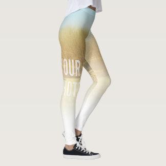 Gamaschen verblassen zur weißen Fülle-Schablone Leggings
