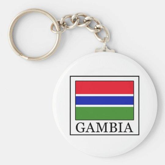 Gambia keychain standard runder schlüsselanhänger