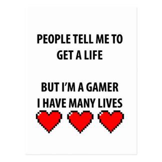 Gamer-Leben Postkarte
