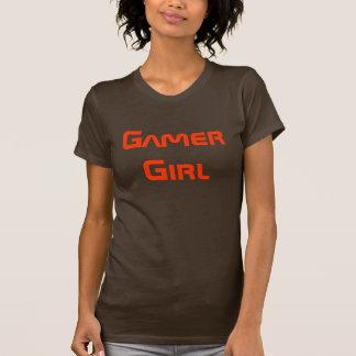 Gamer-Mädchen-Shirt Brown und Orange T-Shirt
