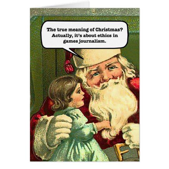 GamerGate Weihnachtskarte Grußkarte