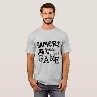 Gamers, die zum Spiel-T-Shirt gehen T-Shirt