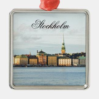 Gamla Stan in Stockholm, Schweden Silbernes Ornament