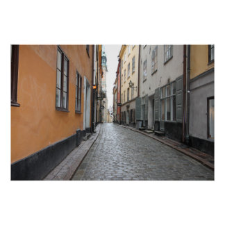 Gamla Stan, Stockholm, Schweden; Kopfstein-Straße Poster