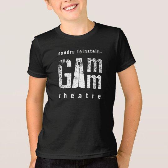 Gamm Theater-Jugend-T-Stück Schwarzes T-Shirt